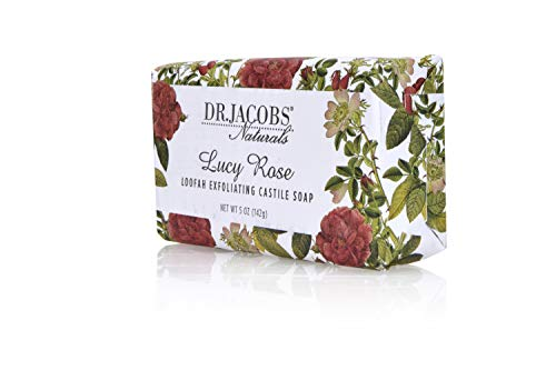 Dr Jacobs Naturals, Triple Milled Loofah Exfoliating Castile Bar Soap 5 oz. - Lucy Rose