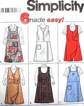 Simplicity Sewing Pattern 7267 Misses' Skort Jumper - 6 Styles, N (Size 10 12 14) (Vintage Skort)