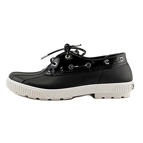 MICHAEL Michael Kors Black Rubber/Patent Rain Skimmers Womens Flats Size 10 - Flats Black Mk