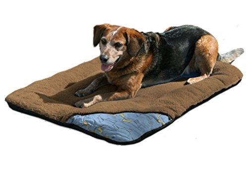 Kurgo Wander Dog Travel Bed, Medium, Brown
