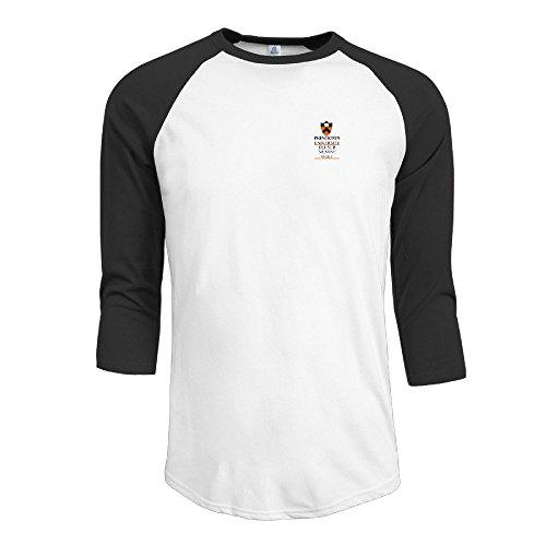 LBGN Men's 3/4 Sleeve 100% Cotton Baseball Princeton University Black XL