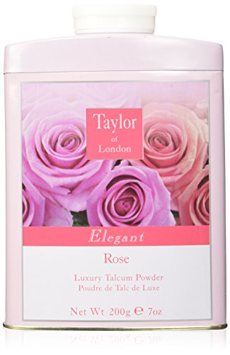 (Taylor Of London Rose Luxury Talcum Powder for Women, 7 Ounce )