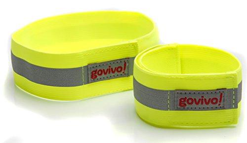 Reflektor Laufausrüstung - Kann als Armband oder Knöchelband oder Handgelenkband verwendet werden - Das Set bestehend aus zwei (ein Paar) reflektierenden Streifen für erhöhte Sichtbarkeit - Govivo