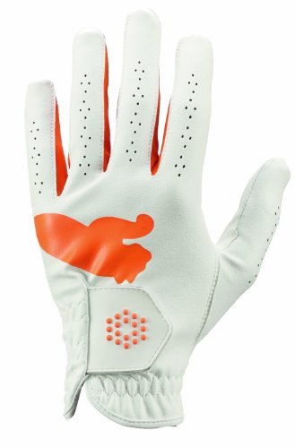 Puma All Weather Sport Glove, Left Hand, Vibrant Orange, Medium