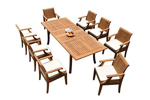 WholesaleTeakFurniture Grade-A Teak Wood 8 Seater 9 Pc Dining Set: 94