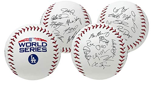 (Rawlings Los Angeles Dodgers 2018 MLB World Series Autograph Roster Baseball)
