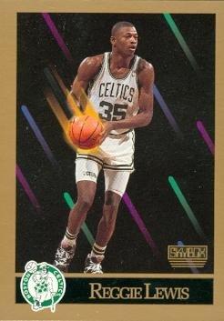 Reggie Lewis Basketball Card (Boston Celtics) 1990 Skybox #18