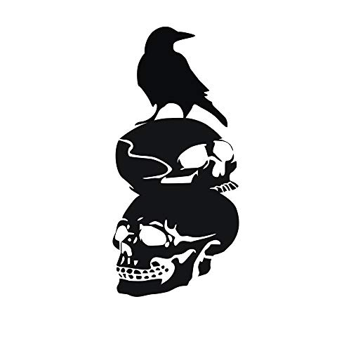 Halloween Home Decoration KIKOY Crow Background Wall Black Sticker Window Decal Decor -