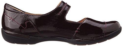 Clarks Casual Clarks Un Helma beschichtetes Leder Schuhe Lackleder, Burgunderrot Burgunderrot