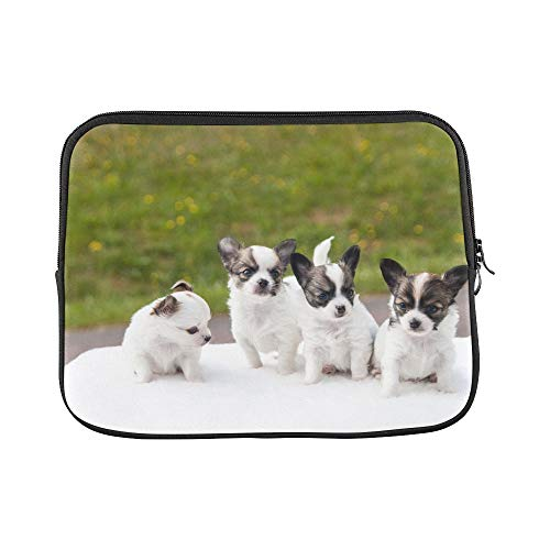s Chihuahua Animals Dogs White Pets Cute Sleeve Soft Laptop Case Bag Pouch Skin for MacBook Air 11