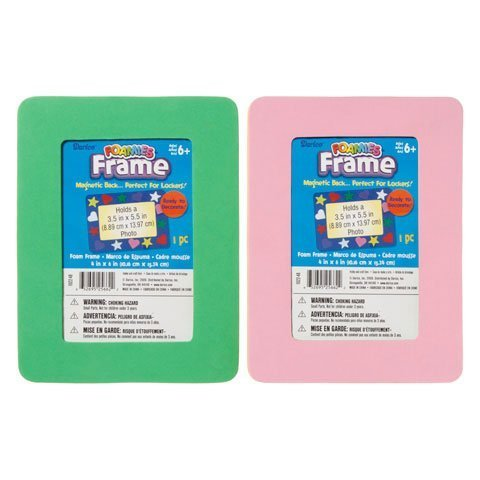 Bulk Buy: Darice Foamies Foam Frame Rectangle Assorted Color