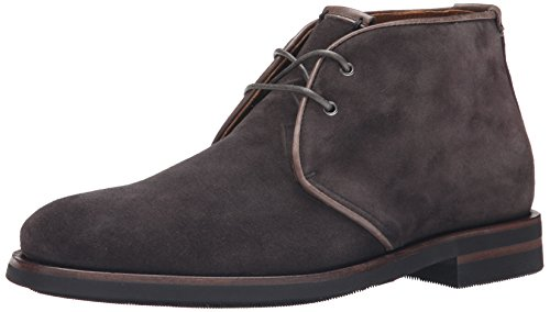 Aquatalia Mens Carlos Chukka Boot Dark Carbon