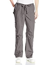 Koi James Elastic-Waist Men's Scrub Pants with Zip Fly and Drawstring Waist Pantalones quirúrgicos para Hombre