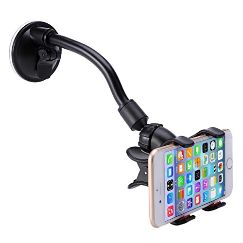 Car Mount, LIANSING Long Arm Universal Car Mount Holder with 360 Degree Rotation Suction Cup for Apple iPhone 6...