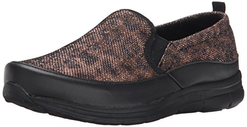 Easy Spirit Women's Sammi Flat, Brown/Black, 7 W US
