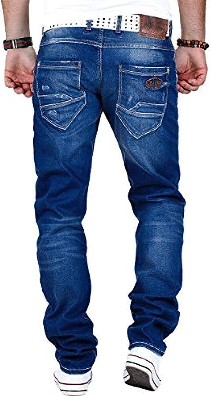 Cipo & Baxx męskie spodnie dżinsowe męskie spodnie na czas wolny Clubwear: Odzież