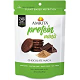 Amrita Plant Protein Gluten Free Mini Bars with 24g Total Protein per Pack and 58 Kcals per High Protein Mini Bar, non-GMO Gluten Free 3 Pouch Pack, 6 Mini Bars Each (Chocolate Maca)