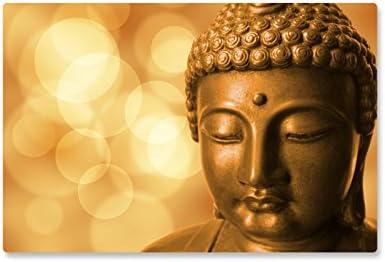 Rutschfeste Design-Schreibunterlage Buddha 60 x 40 cm, aus DA-Media in Premium-Qualität, Malunterlage, Schreibtischauflage, Schreibtischunterlage