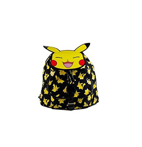 "Pokemon Pikachu All Over Kids 15"" Large School Satchel Backpack Bag 4"