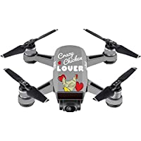 Skin For DJI Spark Mini – Crazy Chicken Lover | MightySkins Protective, Durable, and Unique Vinyl Decal wrap cover | Easy To Apply, Remove, and Change Styles | Made in the USA