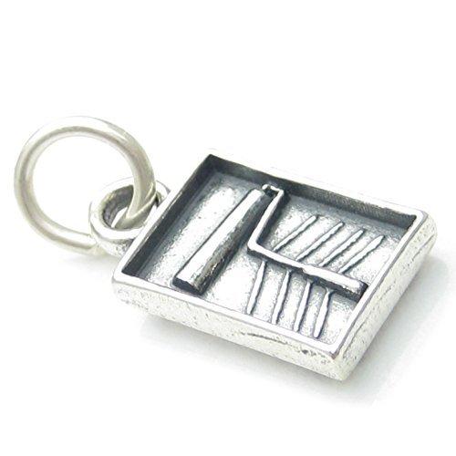 Farbwanne und Roller sterling Silber Charme, 925 x 1 Dekoration charms CF4995