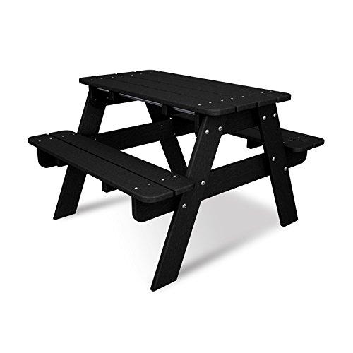 POLYWOOD KT130BL Kids Picnic Table, Black
