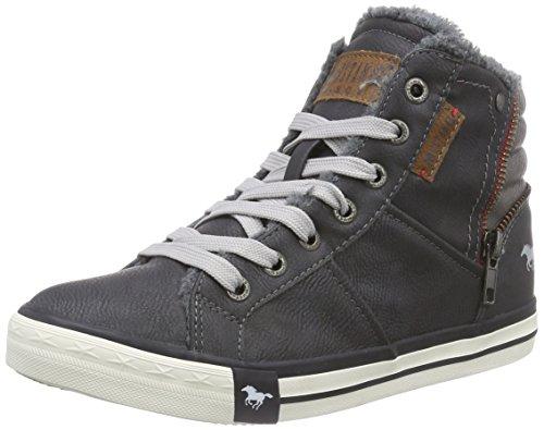 Mustang 5024-602, Unisex-Kinder Hohe Sneakers, Grau (259 graphit), 37 EU (4 Kinder UK)