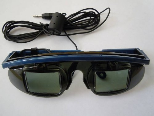 3D Wired LCD Shutter glasses- for 3D Viewing of any system with a stereo glasses jack by 3dtvcorp