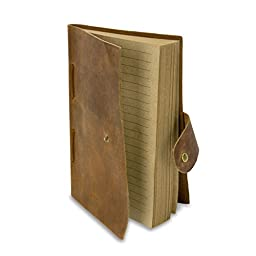 Sunlife Adventures Vintage Leather Handmade Bound Recycled Paper Journal Cover, Rustic Brown