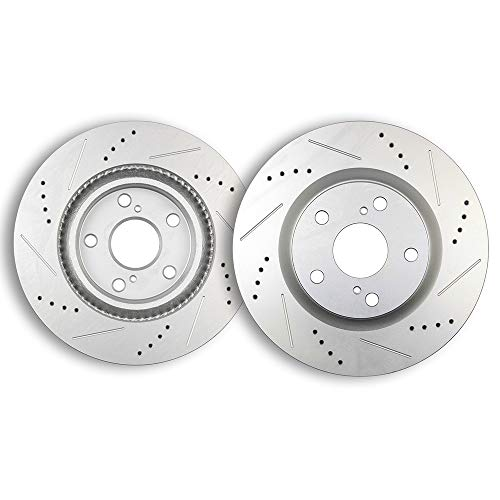 - Brake Kits,ECCPP Front Drilled Slotted Discs Rotors for Lexus ES300h ES350,Pontiac Vibe,Scion tC,Toyota Avalon Camry Matrix RAV4