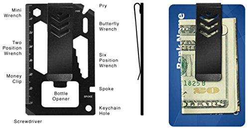 Multi Tool Money Clip-Stainless Steel Wallet