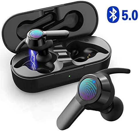 Ecouteur Bluetooth V5.0 Sport UTRAI Oreillette sans Fil Commande Tactile HiFi Stéréo TWS Appariement Automatique 26H Play Étanche IPX5 Anti Bruit
