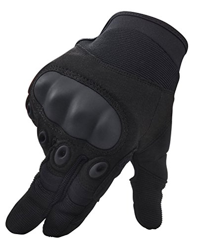 Simplicity Men Women's Cycling Motorcycle Gloves Mittens, Show Finger Black L