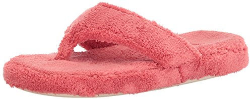 ACORN Women's Spa Thong, Lobster Red , Large / -