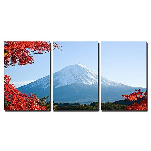 Mt Fuji in Autumn x3 Panels
