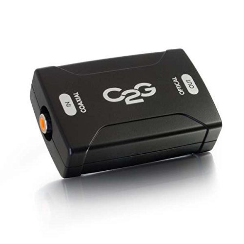 Toslink Coaxial Converter (C2G/Cables to Go 40018 Coaxial to Toslink Optical Digital Audio Converter, TAA Compliant)
