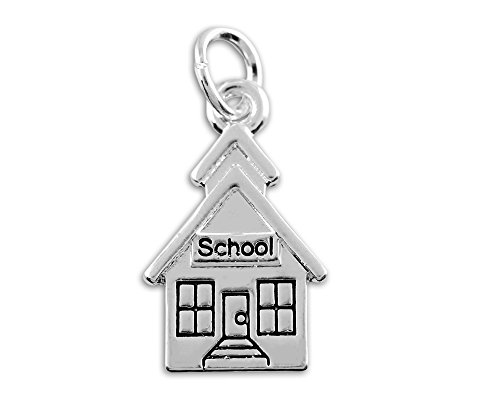 School House Charm in a Bag (1 Charm - RETAIL) (House Sterling Charm Silver)