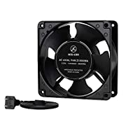 Zhanye 120mm Fan Computer AC 1238, Axial Cooling Exhaust 110V by 125V, High Speed with Metal Net and 4-feet Power Cord
