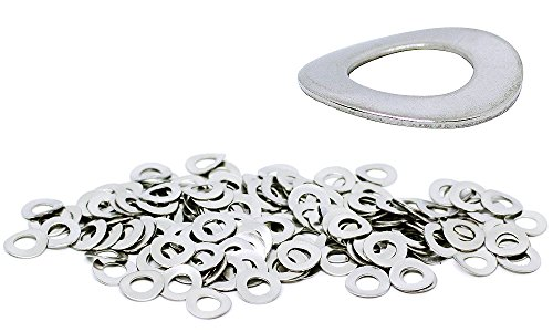 (150pcs) M5, 5mm Wave Stainless Steel Washer - DIN 137B, 11mm Large Outer Diameter Shiny by BelMetric WW5BSS by BelMetric