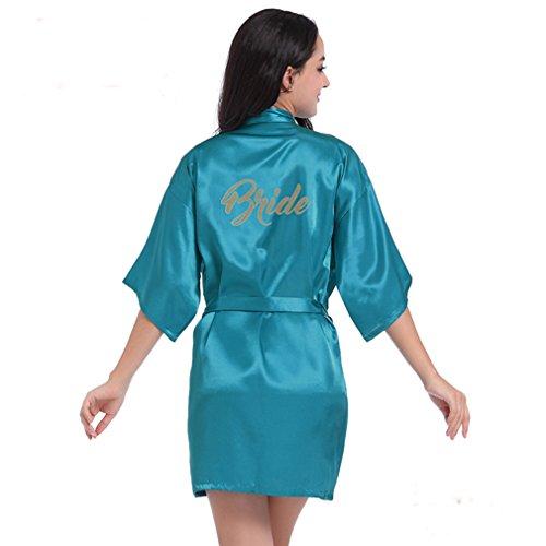 Blu a Kimono WYSMOL Caldo e da Vestaglie Stampa Pavone Pigiami e Sposa Camicie Notte nYEqFUE7