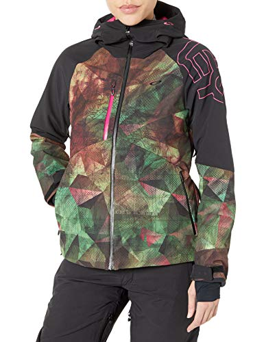 Oakley Women's Hourglass Softshell 3L 10K Jacket - Ski Jacket for Women - Balaclava Hood - Snowboarding Jacket