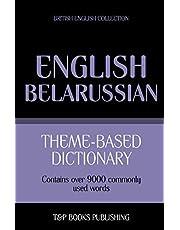 Theme-based dictionary British English-Belarussian - 9000 words