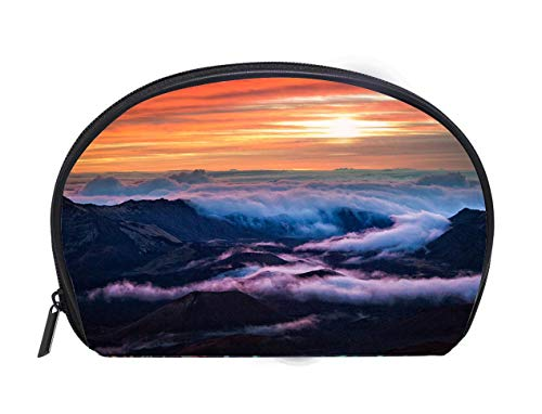 Portable Toiletry Cosmetic Bag Haleakala National Park Crater Sunrise in Maui Hawaii Travel Cosmetic Case Luxury Makeup Artist Bag