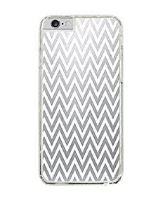 Fading Into Grey Chevron Pattern Clear Hardshell Case for iPhone 6 (4.7)