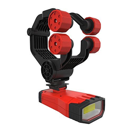 (EZ RED XLUHLS 1000 lm Rechargeable, Cordless Under Hood/Hands Free Light with Pistol Grip & Clamp, Red)