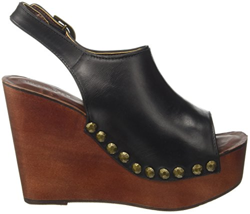 Tacco Snick con Leather Campbell Donna Nero Jeffrey Sandali 7XwqnaxCWF