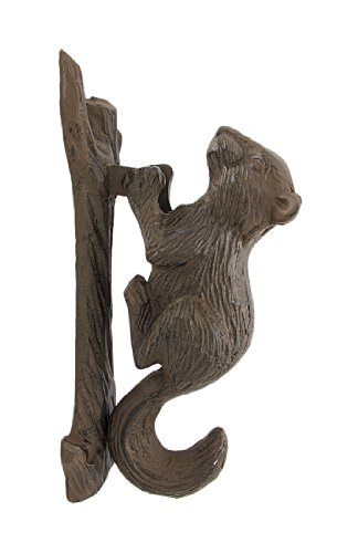 Cast Iron Door Knockers Rustic Cast Iron Squirrel Door Knocker Nature 2.5 X 7 X 3.5 Inches (Metal Door Knocker)