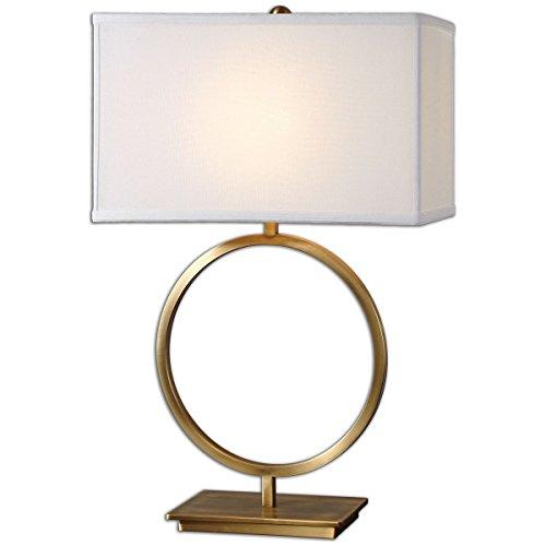 David Table Lamp Nickel (Uttermost 26559-1 Duara Circle Table Lamp, White)