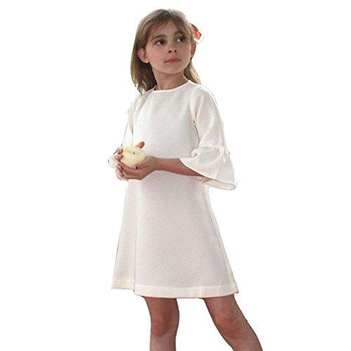 A.Bird Little Girls Ivory Ruffle Cuff Sleeve Classic Graceful Chloe Dress 5