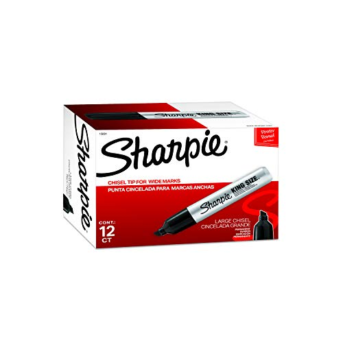 Sharpie 15001 Box of 12 Sharpie Pro King Size Chisel Tip Permanent Markers - Industrial Permanent Marker